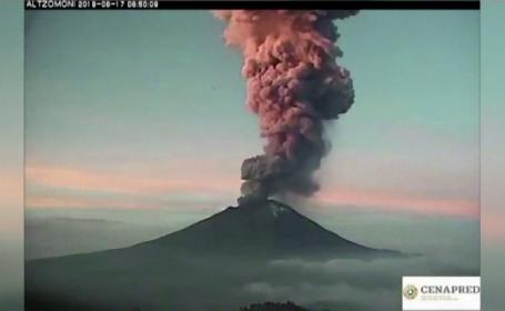 Vulcanul Popocatepetl din Mexic a erupt