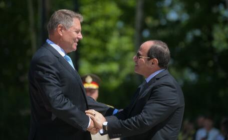 Klaus Iohannis si presedintele Egiptului