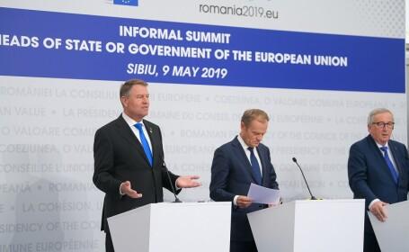 Iohannis Tusk si Juncker