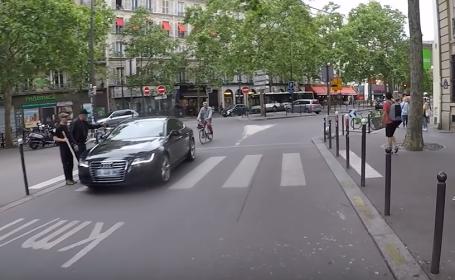 Ce a pățit un şofer care a refuzat să acorde prioritate unui nevăzător, pe trecere. VIDEO