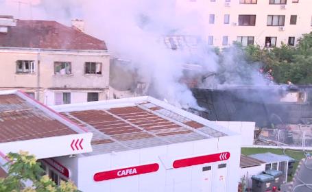 Incendiu în zona Dristor din Capitală, chiar lângă o benzinărie