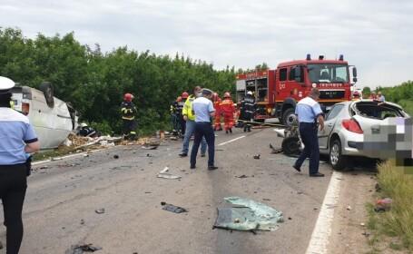 Trei morți într-un accident cumplit în Teleorman. Cum s-a produs tragedia