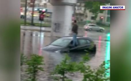 Vijeliile puternice au lovit mai multe zone ale țării. În Arad și Maramureș apa a năvălit pe străzi și în grădini