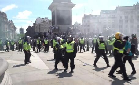 Violenţe în Londra, între protestatari de extremă drepta şi manifestanţi antirasism