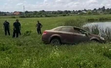 Cum a ajuns un tânăr cu mașina în lac