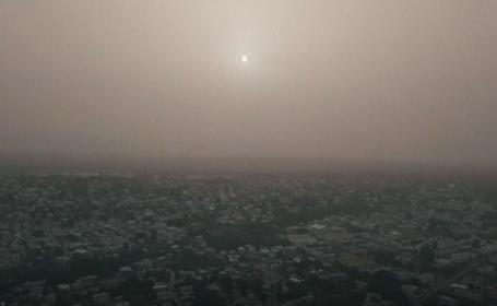 Nor uriaș de praf saharian deasupra Americii Centrale. Avertismentul autorităților