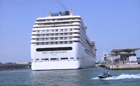 După un an de pandemie, prima navă de croazieră a plecat din Veneția pe Marea Mediterană