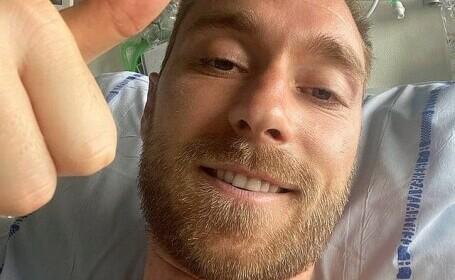Prima imagine cu Christian Eriksen de pe patul de spital. Ce mesaj a transmis de fotbalistul danez
