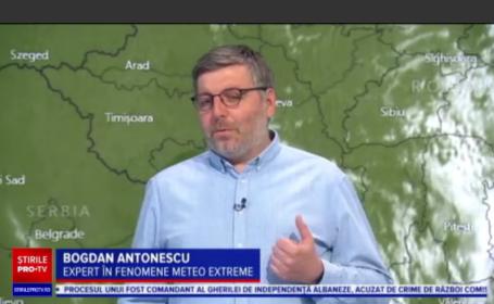 """Expert meteo: Săptămâna viitoare avem caniculă și furtuni. """"Ar trebui să ne obișnuim că e normal ce se întâmplă"""""""