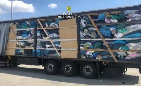 Șase camioane încărcate cu deșeuri au fost oprite de polițiștii de frontieră. De unde veneau