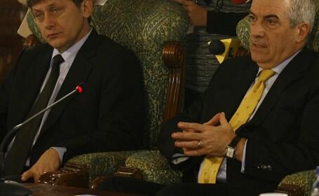 Calin Popescu Tariceanu si Crin Antonescu
