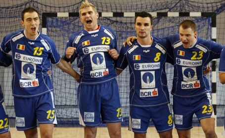 Meciul de handbal Romania - Danemarca din iunie 2008