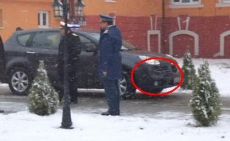 masina lovita Basescu