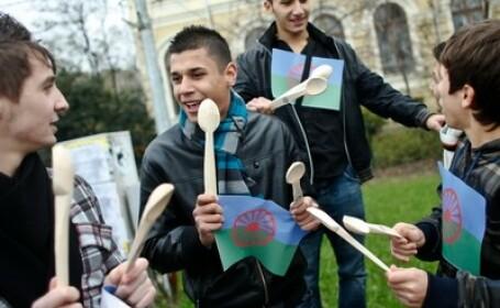 Reprezentanti ai unor ONG-uri care militeaza pentru drepturile romilor