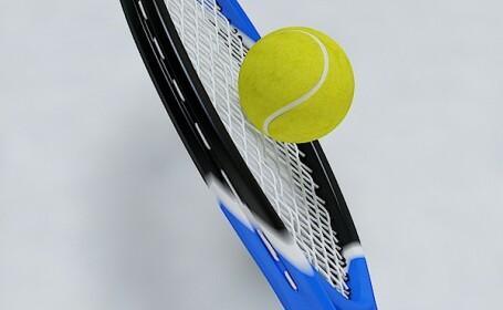 Racheta de tenis cu minge, tenis 3D