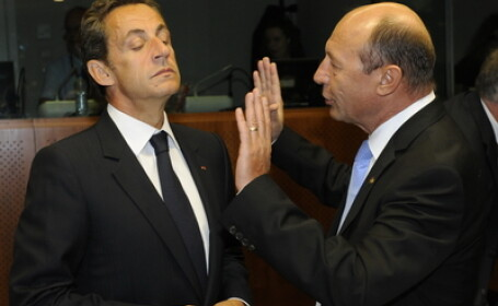 Traian Basescu si Nicolas Sarkozy