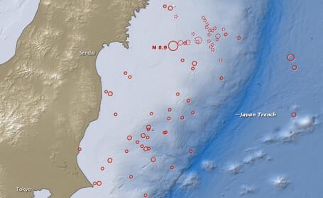 Un cutremur de 6,9 grade s-a produs in estul Japoniei, fara a declansa o alerta de tsunami