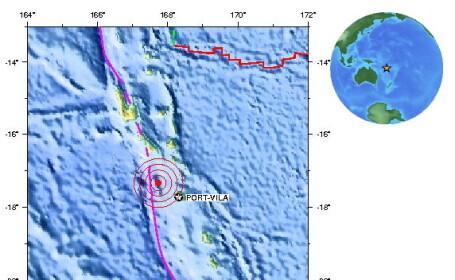 Cutremur in Vanuatu