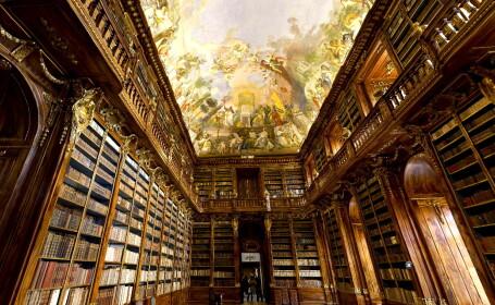 Cea mai mare fotografie interioara din lume - Biblioteca Manastirii Strahov