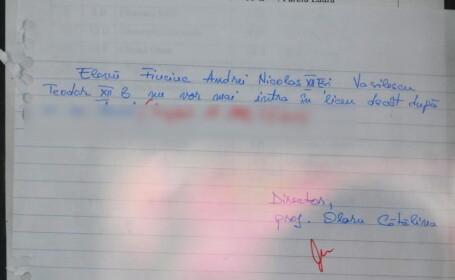 Mesajul pe care nu credeai ca il vei mai vedea vreodata la un liceu din Romania. Ce scrie la avizier