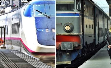 Intarzierile cumulate ale trenurilor in 2010: Romania - 5 ani si 3 luni, Japonia - 36 de secunde