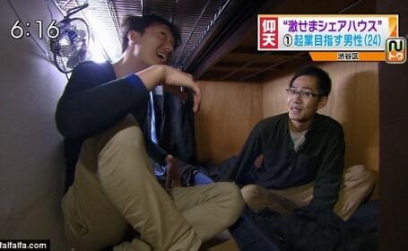 Viata tinerilor din Tokyo care traiesc in apartamente-sicriu. Chiria, echivalentul a 2.000 de lei