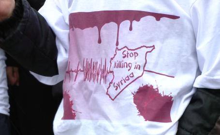Doi ani de la declansarea razboiului in Siria.Comunitatea araba din Timisoara a organizat un protest