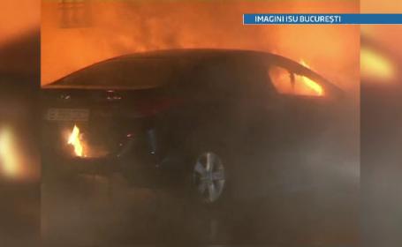 Doua masini de lux au fost incendiate intr-un cartier de vile din Capitala.Piromanul nu a fost prins