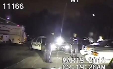 politisti, masina in parcare