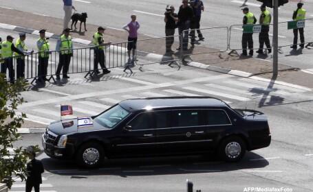 Limuzina lui Obama din Israel s-a stricat dupa ce a fost alimentată cu motorina in loc de benzina