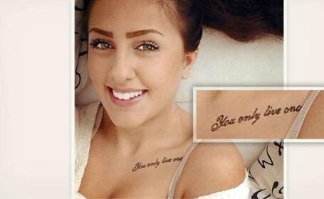 Sfarsitul tragic al unei tinere care si-a tatuat motto-ul \