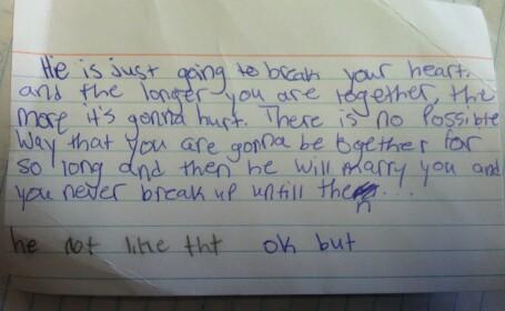 FOTO. Biletelul trimis de o eleva unei colege, in timpul orei, a devenit celebru pe Internet
