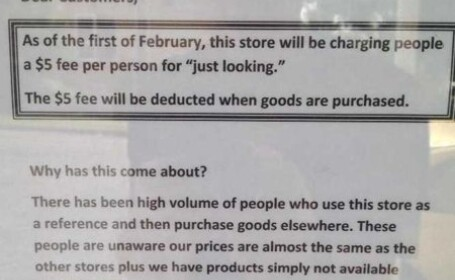 Primul magazin care a pus taxa pe \
