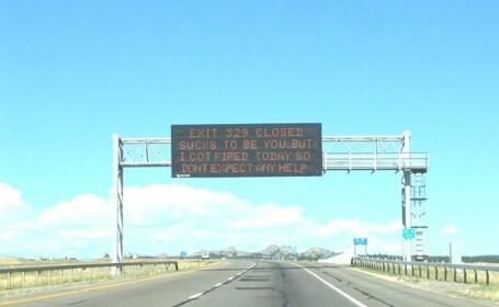 Nu stia daca sa rada sau sa planga. Ce a vazut acest sofer pe o autostrada din SUA