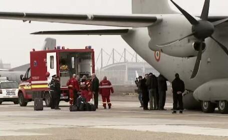 Operatiunea prin care 11 ucraineni, raniti in conflictele din Kiev, au fost adusi in Romania pentru a fi tratati