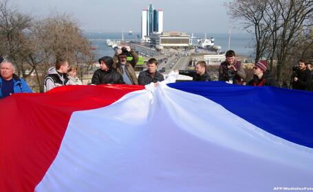 Drapelul Rusiei in Crimeea