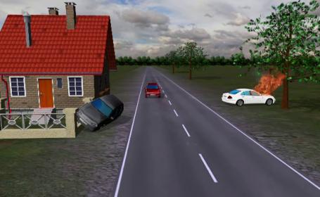 animatie grafica accident