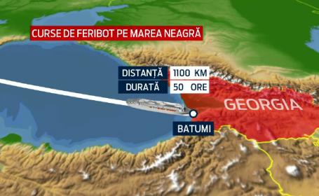 Romania vrea sa reia cursele de feribot pana in Georgia. Planul prin care Guvernul vrea sa aduca pe mare gaze din Azerbaidjan