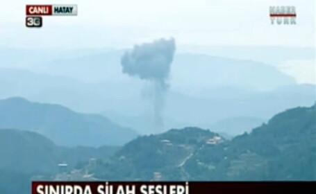 Un avion sirian a fost doborat de fortele aeriene turcesti exact in timpul transmisiei LIVE a unui jurnalist turc