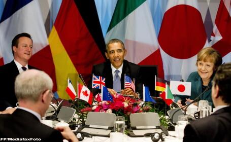 Barack Obama, David Cameron, Angela Merkel