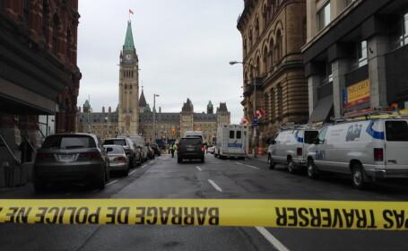 Atac armat intr-un tribunal din Canada. Suspectul a fost impuscat mortal dupa ce a ranit un politist