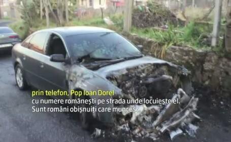 Cinci masini cu numere de Romania au fost incendiate la Roma. Pagubitii se simt victimele unei agresiuni xenofobe