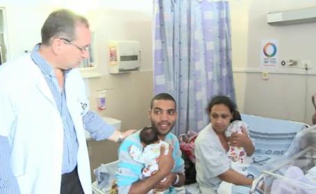 Sansele erau de 1 la un milion. O femeie din Israel a nascut trei perechi de gemeni in cinci ani