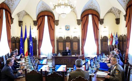 Klaus Iohannis la prima sedinta CSAT