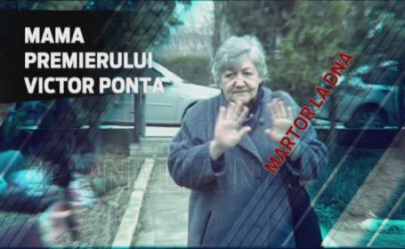 Mama lui Victor Ponta a fost audiata la DNA, in calitate de martor. Premierul a declarat ca este vorba de \