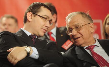Ion Iliescu si-a declarat sustinerea pentru mandatul lui Ponta in fruntea PSD: \