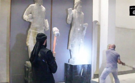 O alta comoara antica, demolata de jihadisti. De ce distrug teroristii din Statul Islamic istoria Irakului