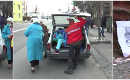 Cine raspunde pentru moartea bunicii, lasata in strada in pijama si papuci. Un nou episod scandalos in fata spitalului