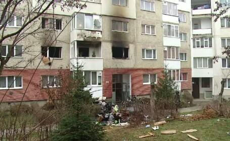 Explozie intr-un bloc din Odorheiul Secuiesc. Tanarul care a produs deflagratia s-a sinucis aruncandu-se de pe cladire