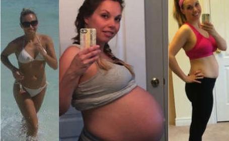 Transformarile prin care a trecut corpul unei femei ce a nascut 4 copii in 5 ani. \